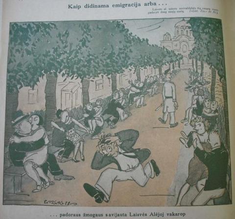 Pasijuokime: linksmos istorijos ir karikatūros iš tarpukario kauniečių gyvenimo