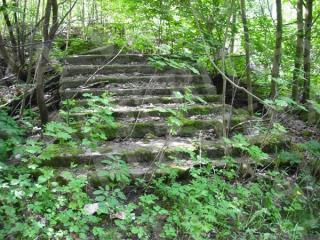 Marvos dvaro rūmų laiptelių liekanos. 2012 m.