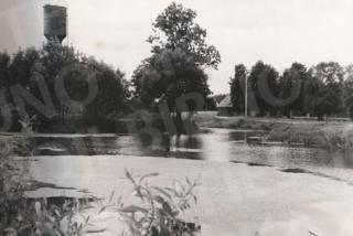 Romainių dvaro tvenkinių liekanos. 1970 m.