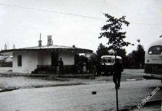 Kalvarijos autobusų stotis. 1959 m.