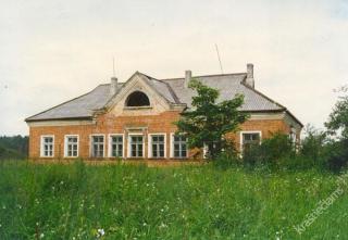 Buvusi Markutiškių kolūkio kontora. Apie 1989-1990 m.