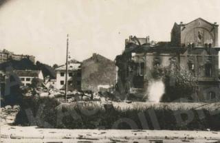 Centrinės elektrinės griuvėsiai 1944 m.