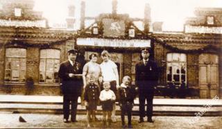 Jonavos geležinkelio stotis. 1928 m.