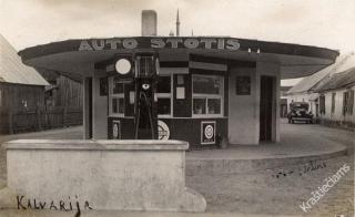 Kalvarijos autobusų stotis. Apie 1930-1935 m.