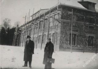 Šakių apskrities ligoninės statybos. 1935 m.