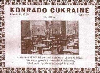 M. Konrado kavinės skelbimas spaudoje
