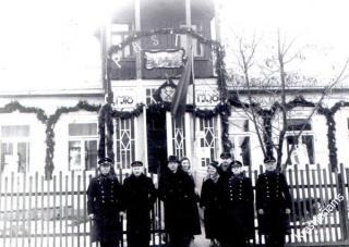 Senasis Prienų pašto pastatas. 1938 m. kovo mėn.
