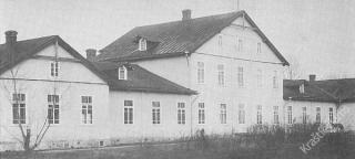 Buv. Gižų dvaro rūmai, kuriuose veikė iš Seinų atkelta kunigų seminarija. XX a. 3 deš.