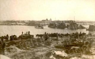Vilijampolės tilto liekanos. Apie 1926 m.