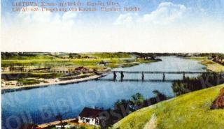 Vokiečių kariuomenės I pasaulinio karo metais pastatytas medinis tiltas ties Eiguliais